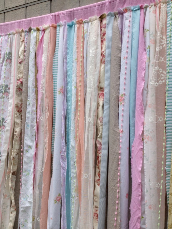 shower curtain shabby rustic chic romantic boho fabric