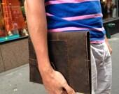 Palmetto Folio, handmade leather notepad holders, brown pocket folio, business folio, handmade leather iPad notebook folios and organizers