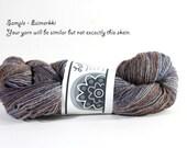 Kainuu Grey Finnsheep wool yarn Lahja, 90 g, colorway Fall