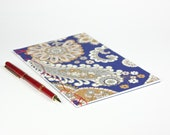 Floral and Paisley cover Japanese Silk Bound Book -Decorative Journal. Wedding Registry, B&B registry. Blank page, Handmade book. OOAK