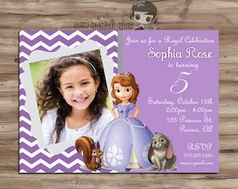sofia the first invitation – Etsy