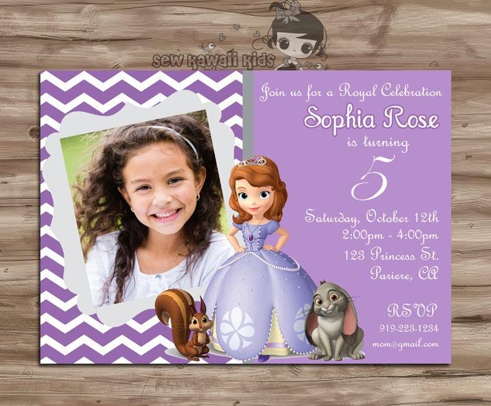 sofia the first birthday invitation sofia the by kawaiikidsdesign, Birthday invitations