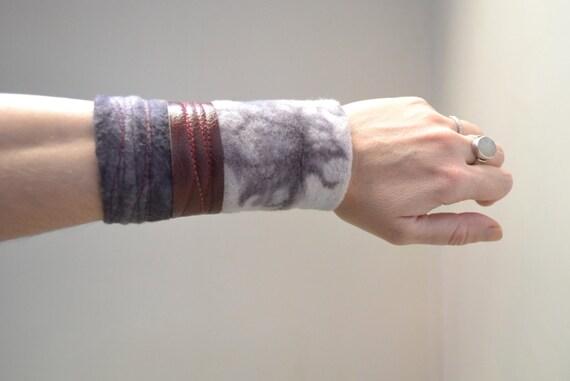 Hand Dyed Cuff Bracelet - Purple Cuff Bracelet - Organic Cotton Cuff Bracelet - Cuff Bracelet