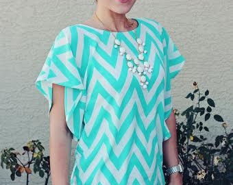 Lesley Flutter Top for Women Sewing PDF Pattern, knit flutter top for women pdf sewing pattern Seamingly Smitten instant download