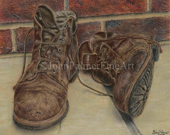 Retired From Service - print from my original pastel painting.