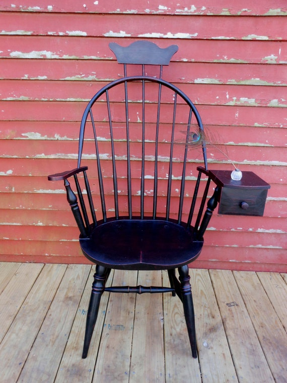 Items Similar To Bow Back Windsor Chair With Drawer