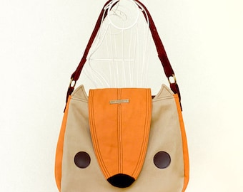 Shoulder Bag - Nutkin The Squirrel Handbag (APRICOT FAWN)