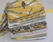 5 gray and yellow CLUTCHES, wedding, gift pouch, 2 pockets, handmade, bridesmaids, bridal, gifts