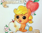 More apple fritters! My Little Pony: Friendship is Magic Baby Applejack Watercolor Painting