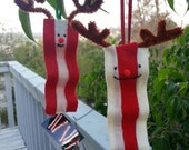 One Bacon Reindeer Ornament - sappymoosetree