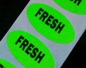 40 FRESH stickers, neon green, so sassy