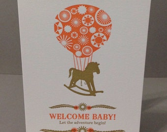 Welcome Baby - Letterpress Card