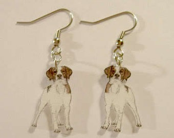 Handcrafted Plastic Britney Spaniel Dangle Earrings