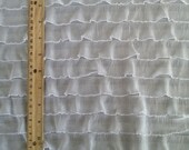 White Ruffle Fabric Yardage