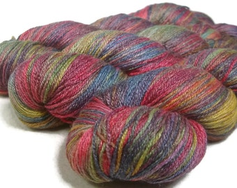 Handpainted Fingering Yarn -  Bamboo Bliss - 100 gm ARCADE -  Merino Wool Bamboo Nylon Sock Yarn - Lot #151102