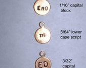 Metal brand label tags for your jewelry, crafts -  7mm Brass with loop-  50 pcs