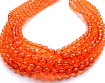 The Michelle- Orange Czech Glass Chunky Necklace