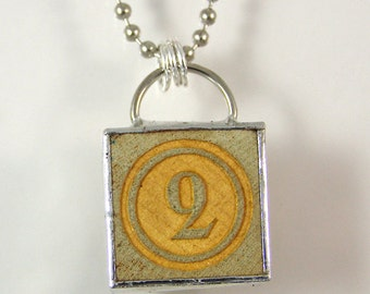 Number 2 Pendant Necklace