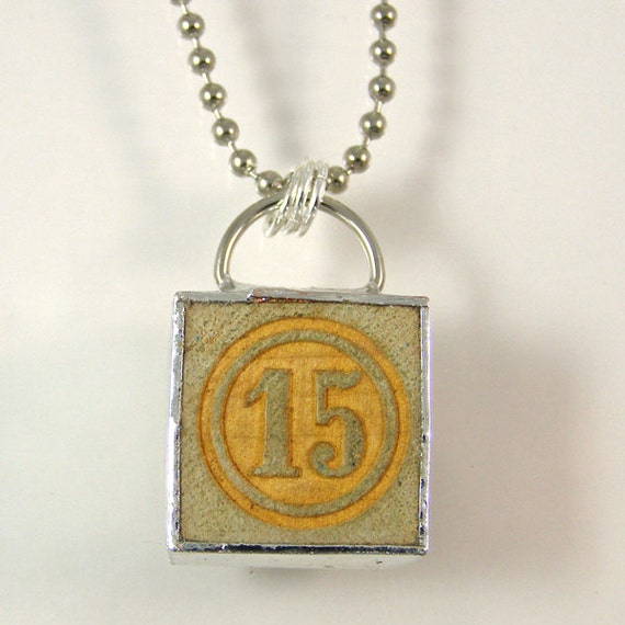 number 15 pendant necklace by xohandworks on etsy