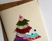 Winter Pine Tree Blank Card 2009