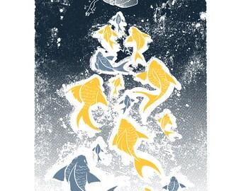 The Goldfish - Mini Art Print