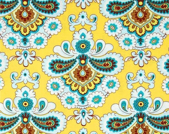 BELLE French Wallpaper Mustard by Amy Butler Quilt Apparel Fabric BTY