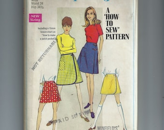 Simplicity Misses' Front Wrap Skirts and Shorts Pattern 7498