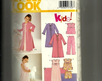 Simplicity Girls' Robe, Nightgown, and Pajamas Pattern 6334