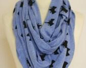 Foxy blue melange circle scarf