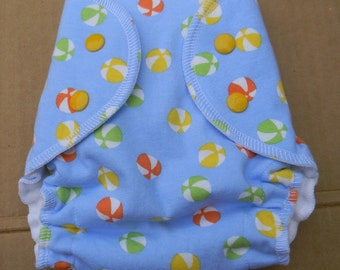 ON SALE  Nifty Nappy Snappy SwimzEaze Swim Diaper  Beachballs Small