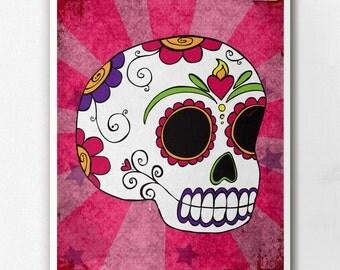 Dia De Los Muertos Calavera Pink