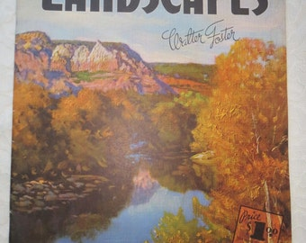 Vintage How To Draw and Paint Landscapes A Walter Foster Art Instruction Book