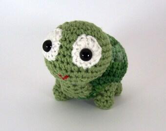 Turtle Crochet Amigurumi Stuffed,  Turtle Plush -   Tippy Turtle MADE to ORDER
