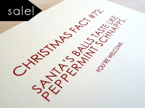 Snarky Santa Christmas Card Set of 6. Half Off Sale. Funny Holiday Cards. Christmas Card Sale