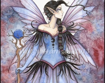 Moon of Winter Fantasy Fairy Fine Art Print by Molly Harrison 5 x 7
