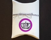 Kit - Crown Themed Pillow Boxes Stickers and Twine - Hand Stamped White Labels Party Favor Gift Card Wrap