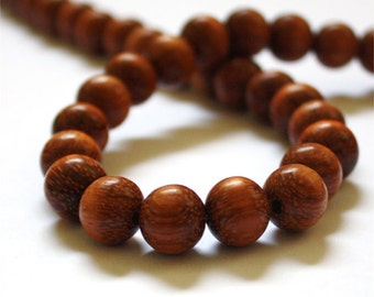 Bayong Round 10mm Wood Beads