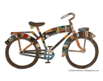 Industrial Bicycle Wall Art