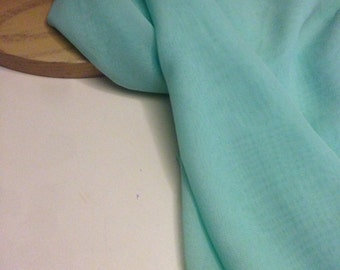 Mint Color Poly Chiffon Fabric 1-3/8 Yards