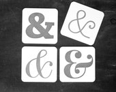 Ampersands in Black & White: Letterpress Coasters (10ct)
