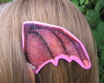 Pink and Purple Boned Bat Wings