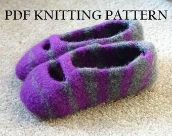 PDF Knitting Pattern - Tea Time Slippers
