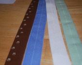 FOE - Fold Over Elastic  - Paw Prints - Yardage for sale