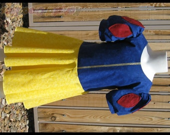 Snow White Inspired Princess Dress Costume - Cotton Collection