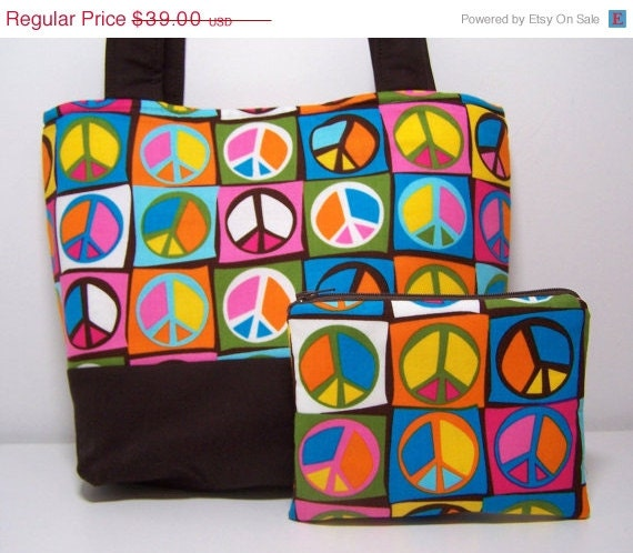 50% Off Discontinued Peace Signs Purse Set