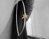 Bow Earrings w/ brass stars