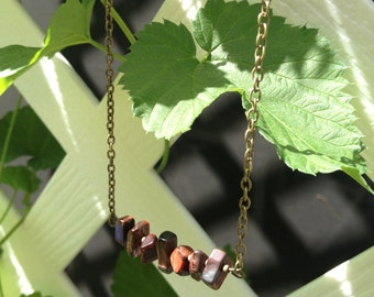 Stones in a Row Necklace