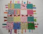 Ribbon tag I spy sensory toy, little ribbon tag toy, car ribbon toy, sensory ribbon tag blanket, bears travel security blanket, shower gift