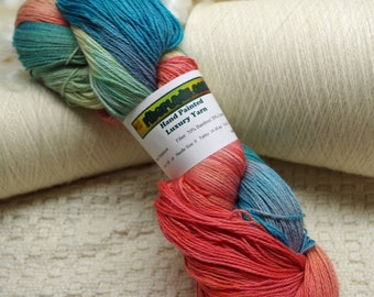 Hand painted Mousoucot Bamboo/Cotton yarn, 4 oz, New Southwest