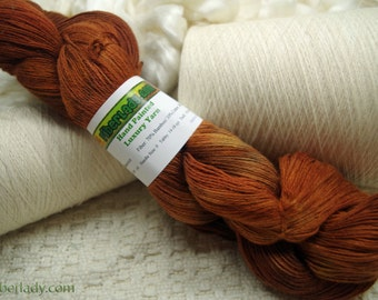 Hand painted Mousoucot Bamboo/Cotton yarn, 4 oz, Rich Caramel